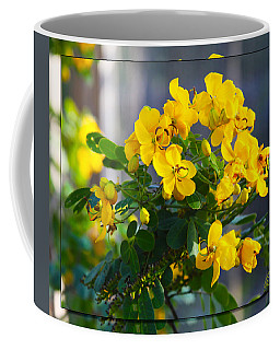 Yellow Flowers Coffee Mug by Chris Thomas
