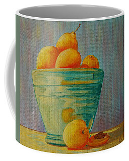 Yellow Fruit Blue Bowl Coffee Mug