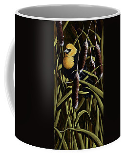 Yellow Headed Blackbird And Cattails Coffee Mug