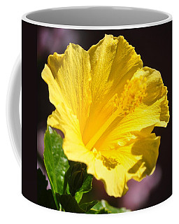 Yellow Hibiscus Open To The Sun Coffee Mug