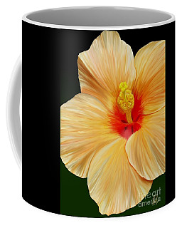 Yellow Hibiscus Coffee Mug by Rand Herron