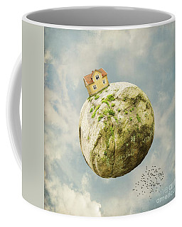 Yellow House In The Sky Coffee Mug
