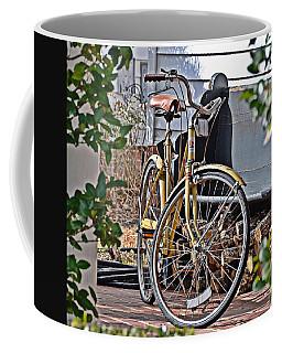 Yellow Huffy Coffee Mug by Linda Brown
