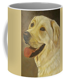 Coffee Mug featuring the painting Yellow Lab by Sharon Schultz