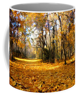 Yellow Leaf Road Coffee Mug