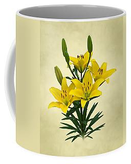 Yellow Lilies Coffee Mug by Jane McIlroy