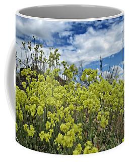 Yellow Mountain Wildflowers Coffee Mug by Jennifer Muller