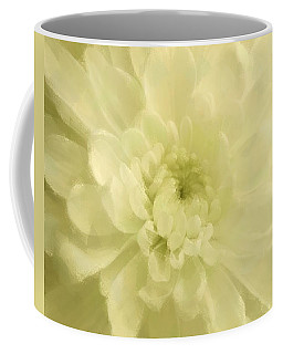 Yellow Mum Luminous Painted Blossom Coffee Mug