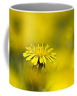 Yellow On Yellow Dandelion Coffee Mug