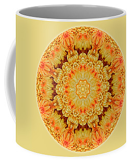 Yellow Orange Mum Mandala Coffee Mug