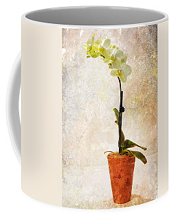 Coffee Mug featuring the photograph Yellow Orchid by Patti Deters