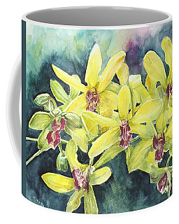 Yellow Orchids Coffee Mug