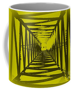 Yellow Perspective Coffee Mug by Clare Bevan