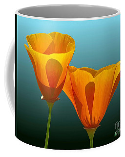Yellow Poppies Coffee Mug by Rand Herron