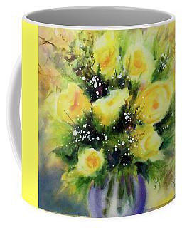 Yellow Roses Coffee Mug by Kathy Braud