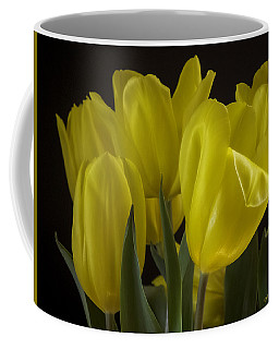 Coffee Mug featuring the photograph Yellow Silk by Lucinda Walter