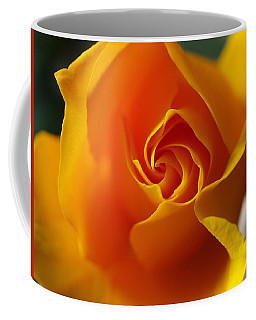 Coffee Mug featuring the photograph Yellow Swirl by Joe Schofield