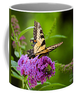 Yellow Tiger Swallow Tail Butterfly Coffee Mug