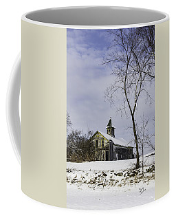 Yellow Trimmed Barn Coffee Mug