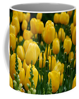 Yellow Tulip Sea Coffee Mug
