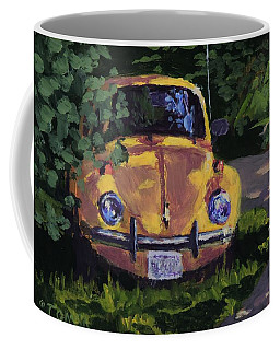 Yellow Vee Dub - Art By Bill Tomsa Coffee Mug
