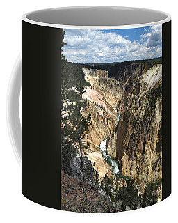 Coffee Mug featuring the photograph Yellowstone Canyon by Laurel Powell