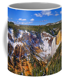 Yellowstone Canyon Panorama Coffee Mug