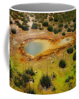 Yellowstone Hot Pool Coffee Mug by Ausra Huntington nee Paulauskaite