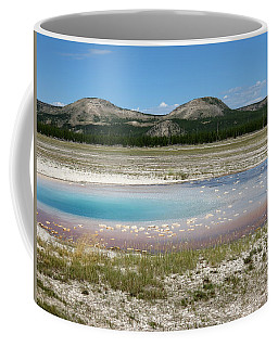 Coffee Mug featuring the photograph Yellowstone Landscape by Laurel Powell