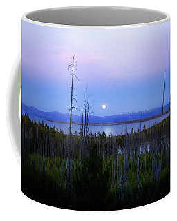 Yellowstone Moon Coffee Mug by Ann Lauwers