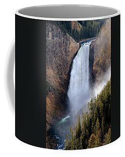 Coffee Mug featuring the photograph Lower Yellowstone Falls by Athena Mckinzie