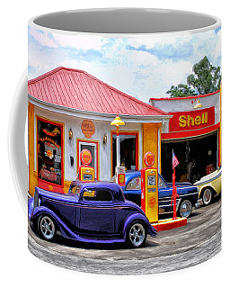Yesterday's Shell Station Coffee Mug
