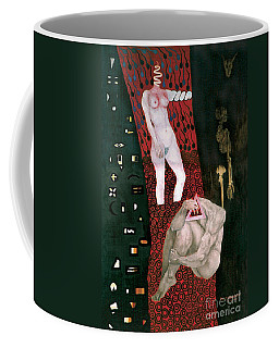 Coffee Mug featuring the painting Yin Yang Birth Death by Fei A
