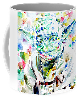 Yoda Watercolor Portrait.1 Coffee Mug