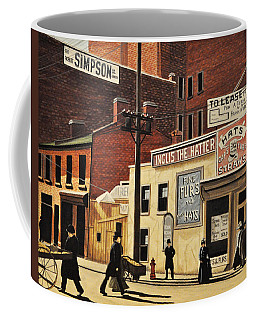 Coffee Mug featuring the painting Yonge And Richmond Streets 1899 by Kenneth M  Kirsch