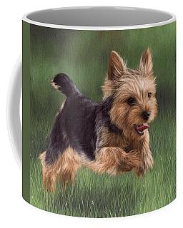 Yorkshire Terrier Painting Coffee Mug by Rachel Stribbling