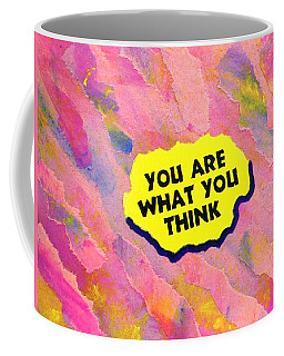Coffee Mug featuring the painting You Are What You Think Collage by Bob Baker