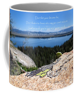 Coffee Mug featuring the photograph You Can Make It. Inspiration Point by Ausra Huntington nee Paulauskaite