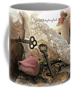 You Hold The Key To My Heart Coffee Mug by Katie Wing Vigil