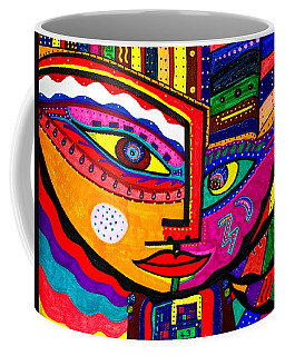 You Move Me - Face - Abstract Coffee Mug