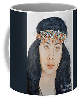 Coffee Mug featuring the mixed media Young Filipina Beauty With A Mole Model Kaye Anne Toribio  II by Jim Fitzpatrick