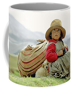 Young Girl In Peru Coffee Mug