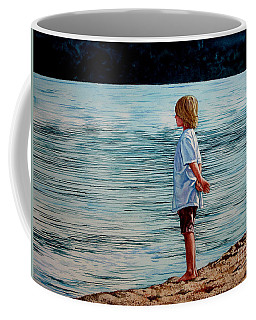 Young Lad By The Shore Coffee Mug