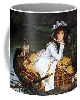 Young Lady In A Boat Coffee Mug