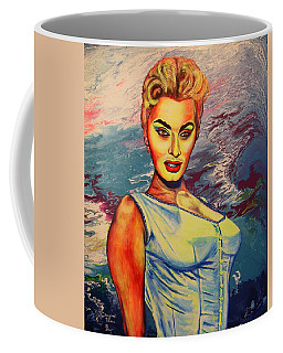 Coffee Mug featuring the painting Young Lady.sophia. by Viktor Lazarev