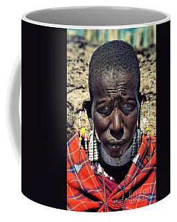 Portrait Of Young Maasai Woman At Ngorongoro Conservation Tanzania Coffee Mug