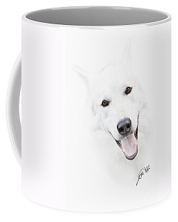 Coffee Mug featuring the digital art Young Wolf by Erika Weber