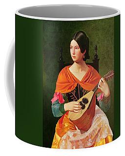 Young Woman With A Mandolin Coffee Mug