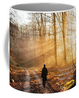 Your Word Is A Light To My Path Bible Verse Quote Coffee Mug