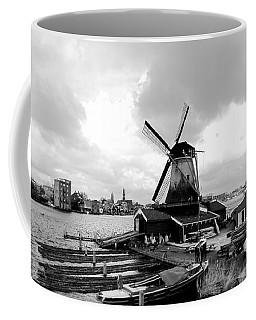 Zaanse Schans Pano In Black And White Coffee Mug